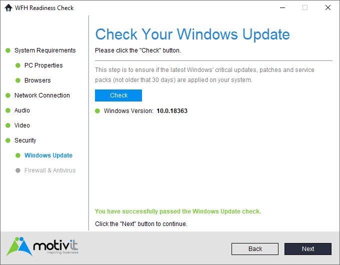 WFH Windows Update